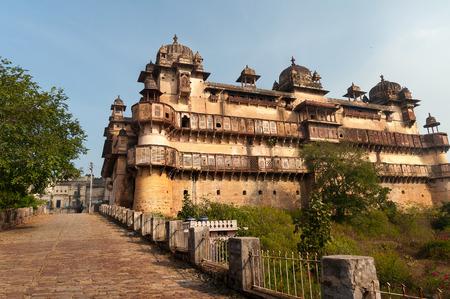madhya: Jahangir Mahal or Orchha Palace is citadel and garrison located in Orchha. Madhya Pradesh. India