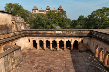ki: Dauji Ki Kothi in Orchha. Madhya Pradesh. India. Stock Photo