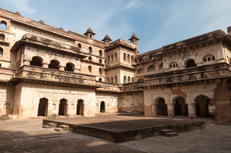 madhya: Raj Mahal palace in Orchha. Madhya Pradesh. India