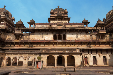 garrison: Jahangir Mahal or Orchha Palace is citadel and garrison located in Orchha. Madhya Pradesh. India