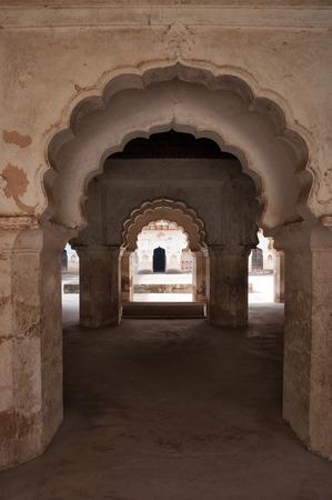 madhya: Arch of Raj Mahal palace in Orchha. Madhya Pradesh. India