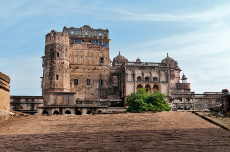 garrison: Jahangir Mahal or Orchha Palace is citadel and garrison located in Orchha. Madhya Pradesh. India