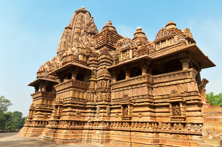 pradesh: Lakshmana temple. Western temples of Khajuraho. Madhya Pradesh. India. Built around 999