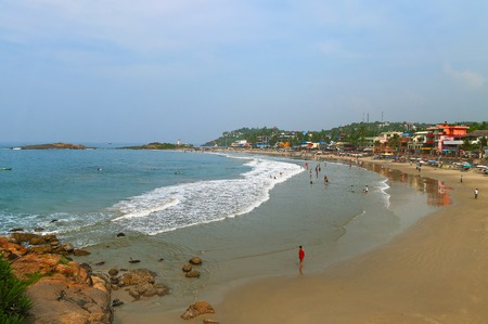 View of the Lighthouse beach in Kovalam. Kerala. India Imagens