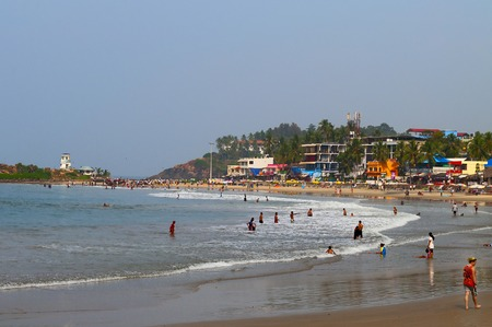 kovalam: View of the Lighthouse beach in Kovalam. Kerala. India Editorial