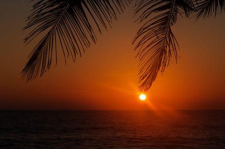 varkala: View of Varkala beach at sunset. Kerala. India
