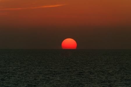 varkala: Beautiful sunset above the sea. Varkala. Kerala. India Stock Photo