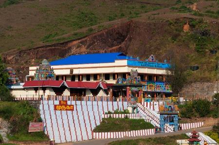 munnar: Hindu temple on the hill in Munnar. Kerala. India