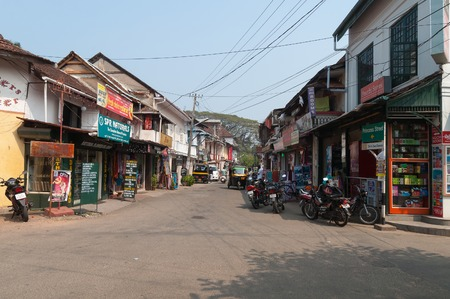 Fort Kochi, India - Jan 7, 2015: Princess street in Fort Kochi. Fort Kochi is a region in the city of Kochi in the state of Kerala, India.