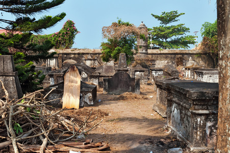 kochi: Dutch cemetery in Fort Kochi. Kerala. India Stock Photo