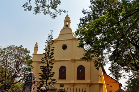 St. Francis Church is de oudste Europese kerk in India. Fort Kochi. Kerala