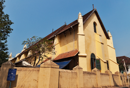 st  francis: St. Francis Church  is the oldest European church in India. Fort Kochi. Kerala Stock Photo