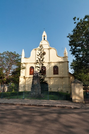 kochi: St. Francis Church  is the oldest European church in India. Fort Kochi. Kerala Stock Photo