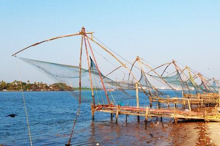 chinese fishing nets: Chinese Fishing nets in Fort Kochi. Kerala. India