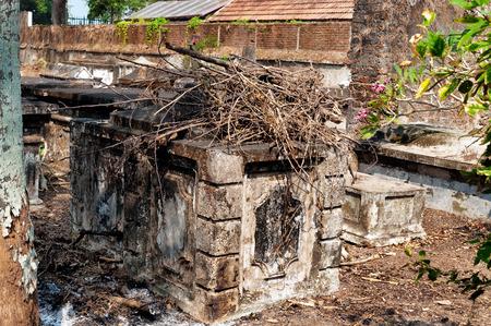 kochi: Dutch cemetery in Fort Kochi. Kerala. India Stock Photo