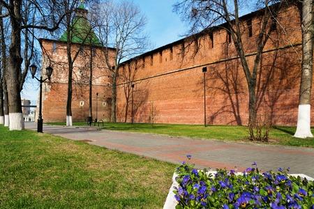 nizhni novgorod: Street along the Kremlin in Nizhny Novgorod. Russia