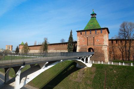 nicholas: Tower of Nicholas (Nikolskaya) in Nizhny Novgorod Kremlin. Russia