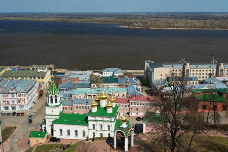 precursor: Nizhny Novgorod, Russia - May 2, 2015: View of Church of the Nativity of John the Precursor in Nizhny Novgorod Editorial