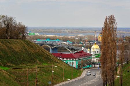 nizhni novgorod: Nizhny Novgorod, Russia - May 2, 2015: View of Nizhny Novgorod. Kanavinsky bridge. Nizhny Novgorod is the fifth largest city in Russia Editorial