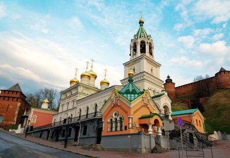 novgorod: Church of the Nativity of John the Precursor. The church was built in the late 17th century. Nizhny Novgorod. Russia Stock Photo