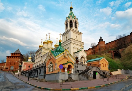 precursor: Church of the Nativity of John the Precursor. The church was built in the late 17th century. Nizhny Novgorod. Russia Stock Photo