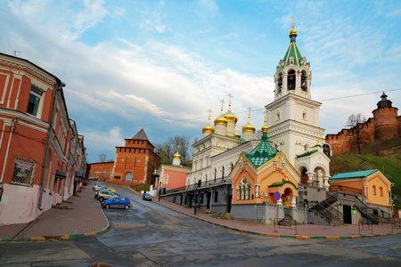 precursor: Nizhny Novgorod, Russia - May 2, 2015: Church of the Nativity of John the Precursor. The church was built in the late 17th century.