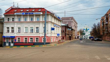 nizhni novgorod: Nizhny Novgorod, Russia - May 2, 2015: Dobrolyubov Street and view of Orthodox church. Nizhny Novgorod is the fifth largest city in Russia Editorial