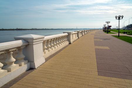 volga river: Lower Volga river embankment in Nizhny Novgorod. Russia Stock Photo