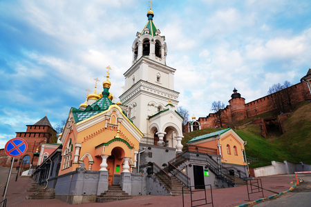17th century: Church of the Nativity of John the Precursor. The church was built in the late 17th century. Nizhny Novgorod. Russia Editorial