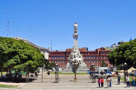 christopher: Buenos Aires, Argentina- Jan 19, 2011: The monument of Christopher Columbus in Columbus Park near La Casa Rosada