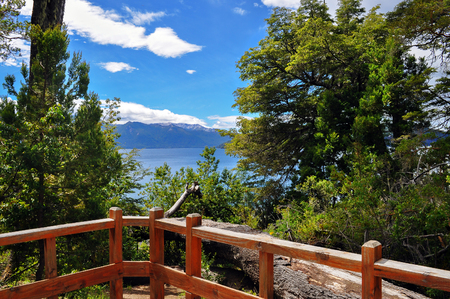 huapi: View of Lake Nahuel Huapi from Los Arrayanes National Park. San Carlos De Bariloche. Argentina