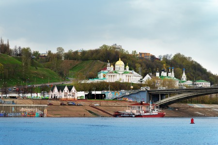 annunciation: Nizhny Novgorod, Russia - May 4, 2015: View of Annunciation monastery from Volga river Editorial