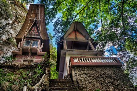toraja: Toraja Traditional funeral tomb in Buntu Pune village. Tana Toraja, Sulawesi. Indonesia