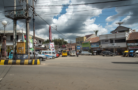 toraja: Rantepao, Indonesia - Dec 07, 2015: On the central street in Rantepao, Tana Toraja, Sulawesi. Rantepao is cultural center of Toraja ethnic group. The town is a major tourist resort Editorial