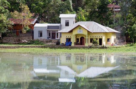 toraja: Rantepao, Indonesia - Dec 07, 2015: Office building in the village at Tana Toraja. Sulawesi Editorial