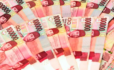 Indonesische Rupiah merkt 100000 achtergrond. selectieve aandacht