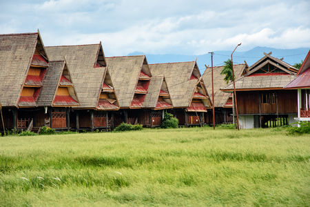 sulawesi: Traditional houses in Tentena. Central Sulawesi. Indonesia