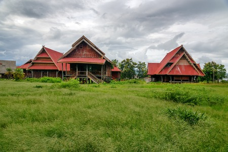 Traditional houses in Tentena. Central Sulawesi. Indonesia