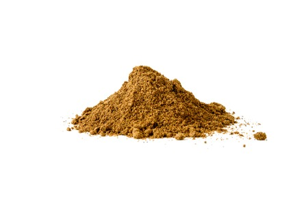 Pile of Garam Masala on white background. Indian spice mix