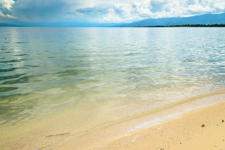 sulawesi: Siuri Beach at Poso lake. Central Sulawesi. Indonesia