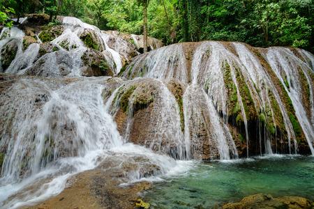sulawesi: Saluopa Waterfall in Tentena. Central Sulawesi. Indonesia Stock Photo