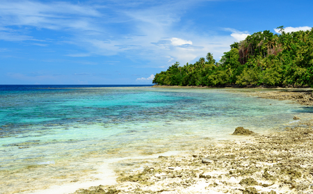 sulawesi: Beautiful beach near Poso city.  Central Sulawesi. Indonesia Stock Photo
