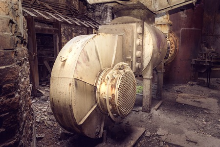 metallurgical: Old blower fan in blast furnace workshop on Mining and metallurgical plant