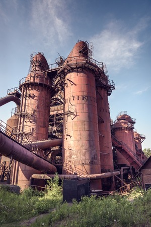metallurgical: Old cowper for hot blast in blast furnace on Mining and metallurgical plant