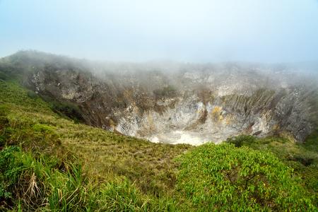 sulawesi: Crater of Volcano Mahawu near Tomohon. North Sulawesi. Indonesia
