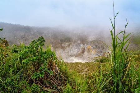 stratovolcano: Crater of Volcano Mahawu near Tomohon. North Sulawesi. Indonesia