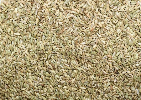 fennel seeds: Top view of Fennel seeds background texture Stock Photo