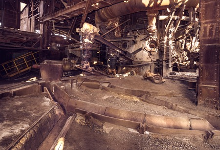 metallurgical: Old blast furnace workshop on Mining and metallurgical plant
