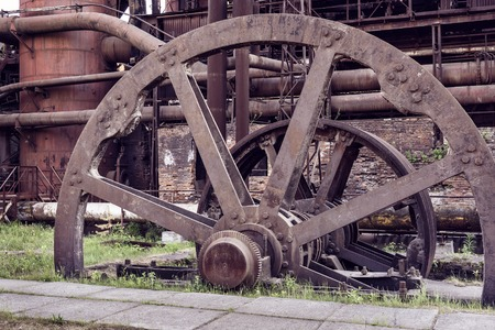 metallurgical: Old wheel sheet bar mill on Mining and metallurgical plant