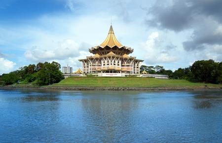 サラワク州の立法議会 (デュワン Undangan ヌグリ)クチン。サラワク州。マレーシア。ボルネオ 写真素材
